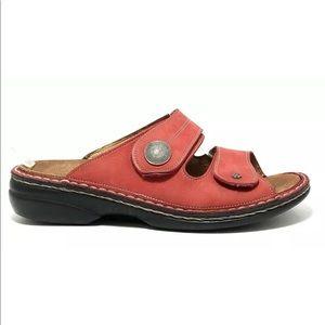 "SOLD Finn Comfort Red ""Sansibar"" Slide Sandals"